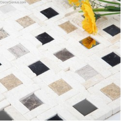 Hollow Kitchen Backsplash Stone Mosaic tile