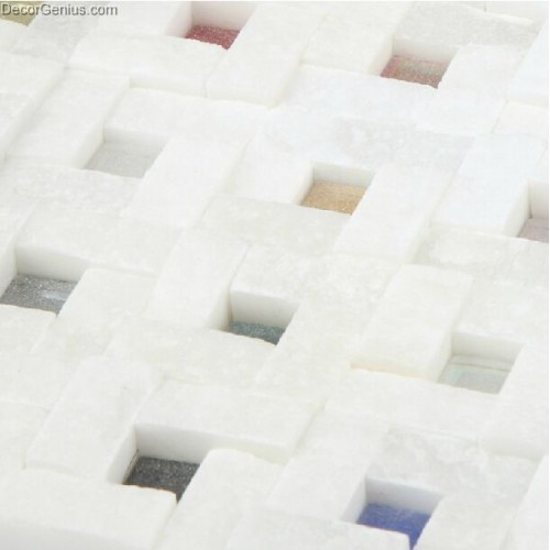Small Hollow Candy Stone Kitchen Blackplash Sink Tile