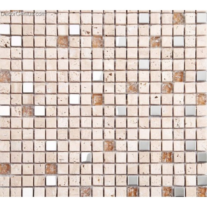 Travertine stone floor tile lobby mosaic counter top tile for Mosaic tile bar top