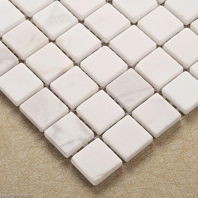 Natural White Bathroom Stone Mosaic Tile