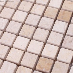 15X15MM Chip Size Marble Garden Mosaic Tile Natural