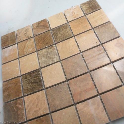 Grey Kitchen Backsplash Tile - Bathroom TV Background 3D Mosaic Stone Tile