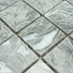 48X48 Home Natural Decoration Marble Stone Grey Mosaic Tile