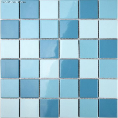 Cheap Home Decor Blue Ceramic Mosaic Wall Tiles For