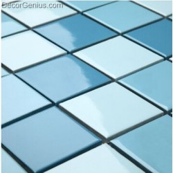Cheap Home Decor Blue Ceramic Mosaic Wall Tiles for Counter top Fire Proof