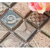 Sink Mosaic Tiles Sea Shell Bathroom Mixed Design Discount Mosaic