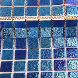 Sea Blue Floor Mosaic Tiles Porcelain Cheap Home Decoration from DecorGenius DGCM004