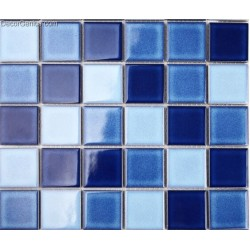 Easy Home Building Material Light Blue Kitchen Mosaic Tiles