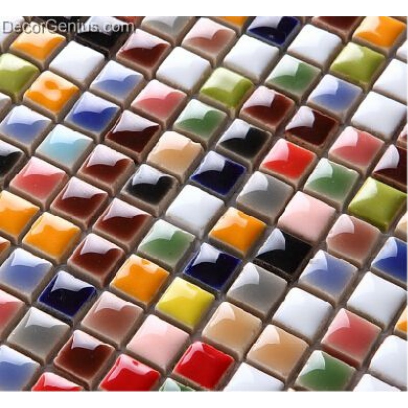 Rainbow Multicolored Ceramic Sink Mosaic Wall Tiles Wholesale Free ...