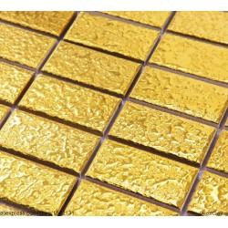 Decorgenius Home Improvement Gold Strip Ceramic Mosaic Tiles DGCM007