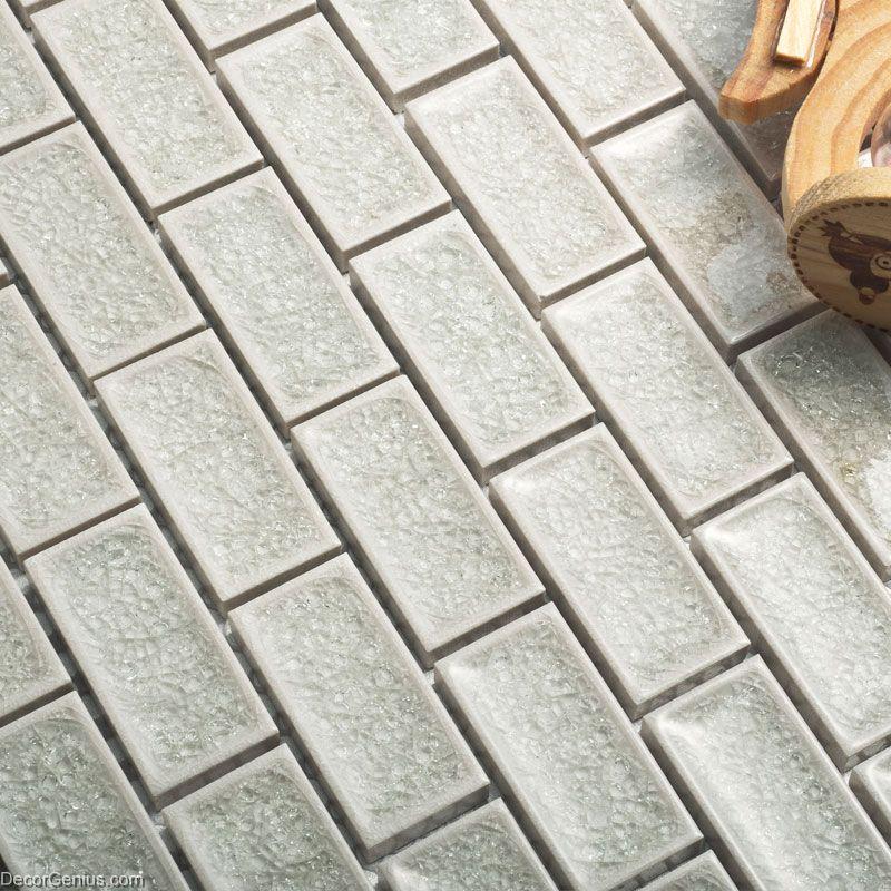 Floor Tiles Porcelain Tiles Silver White Ceramic High Quality Mosaic