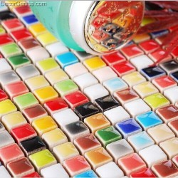 Muti Color Ceramic Mosaic Tiles Kitchen Backsplash Children Kids Room Design Candy Wall Tile