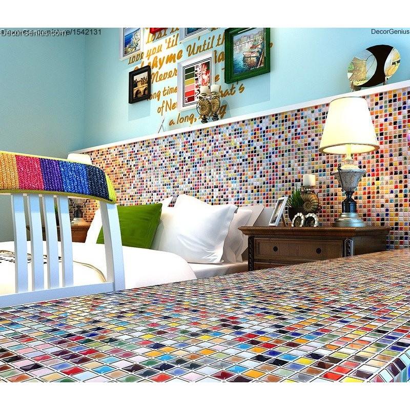 muti color ceramic mosaic tiles kitchen backsplash children kids