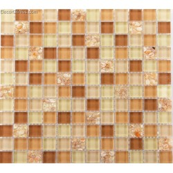 Tawny Brown 4 Color Conch Kitchen Backsplash Tile