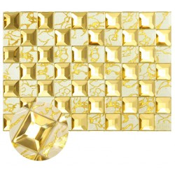 Yellow Mirror 5 faced Glass Tile