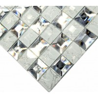 Countertop Crystal Silver Mirror Kitchen Decoration Glass Mosaic Tile