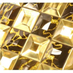 China Cheap Glass Tiles Gold Amber Affordable Crystal Mosaic Tiles Free Shipping