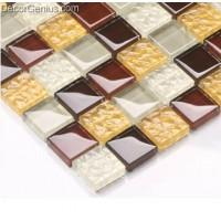Discount China Mosaic Tile White Dark Brown for Door Decoration Mosaic Tiles DGGM020