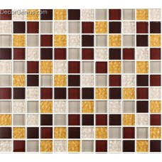 Discount China Mosaic Tile White Dark Brown for Door Decoration Mosaic Tiles DGGM020