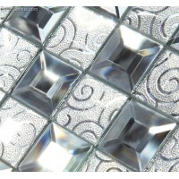 Modern Popular Glass Mirror Mosaic Tile Kitchen Mosaic Tiles for Backsplash