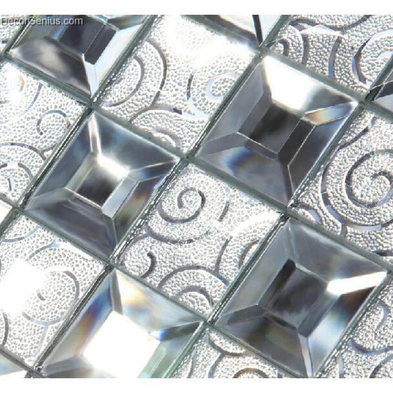 Modern Popular Glass Mirror Mosaic Tile Kitchen Tiles For Backsplash