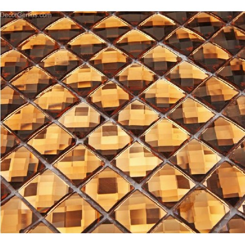 13 Faced Gold Crystal Mirror Backsplash Discount Tiles Shining Mosaic Tile