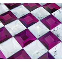 DecorGenius Free Shipping Ice Cracked Purple Glass Crystal Wallboard Plastic Glass Mosaic Backsplash Tiles