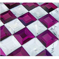DecorGenius Free Shipping Ice Cracked Purple Glass Crystal Wallboard Plastic Glass Mosaic Backsplash Tiles