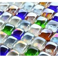 Muti Color Kitchen Wall Tiles Glass Mosaic Tiles Wallboard Cheap Tile
