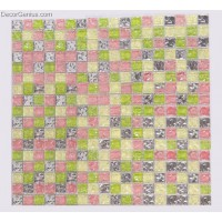 Blend Green Pink Wallcover Tile Diamond Mirror Glass Mosaic Tiles