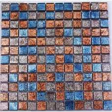 Faded Blended Blue Red Glass Mosaic Tile Vintage Home Decoration Free Shipping Mosaic Tiles