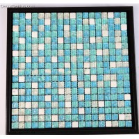 300x300 11 Mosaic Sheets Sea Blue Glass Wallcover Mosaic Tiles Iced Cracked Tile