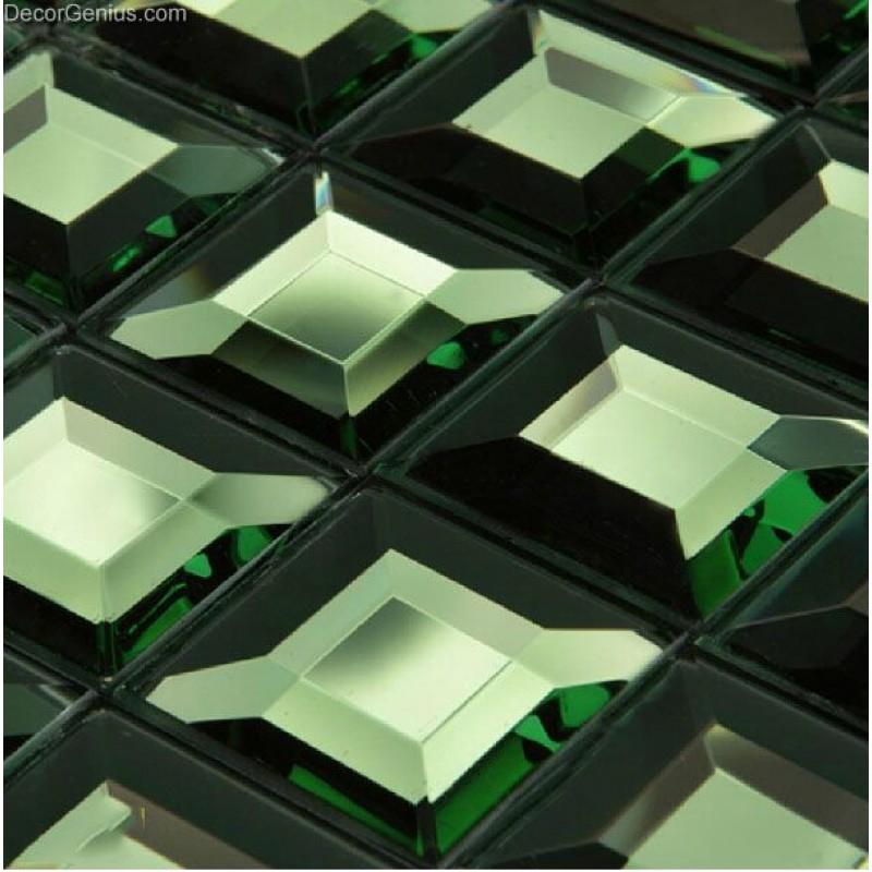 5 Faced Wall Tile Green Wallcover Tiles Dggm039 Home Decor