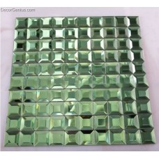 5 Faced Wall Tile Green Wallcover Tiles DGGM039 Home Decor Mosaic Tiles