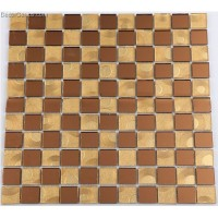 DecorGenius Wall Tile Cofffee Grass Crystal Mirror Glass tiles Mosaic