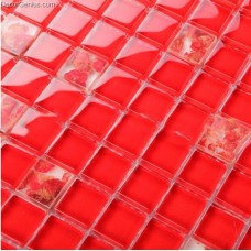 DecorGenius Rose Glass Red Bathroom Tile Pink Home Decor Kitchen Tiles Made of Mosaic Tile