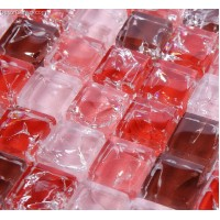 New Arrival Red Kitchen Tile Mosiac Frosted Tiles for Backsplash Decoration