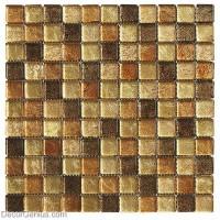DecorGenius Amber Brown Mosaic Bathroom Floor Tile Home Decor Glass Mosaic Tile Basksplash