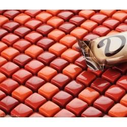 Glass Mosaic Wall Mirror Tiles DGGM048 Red Pink Mirror for Bathroom Door
