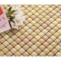 Mosaic Bathroom Mirrors 3D Design Khaki Candy Glass Tiles