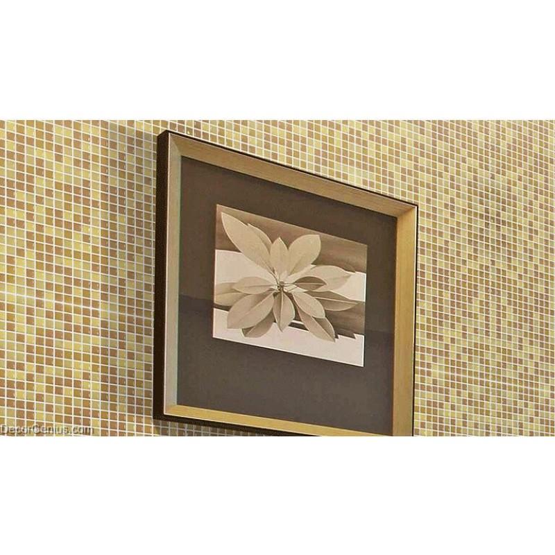 Mosaic Bathroom Mirrors 3D Design Khaki Candy Glass Tiles. Sale