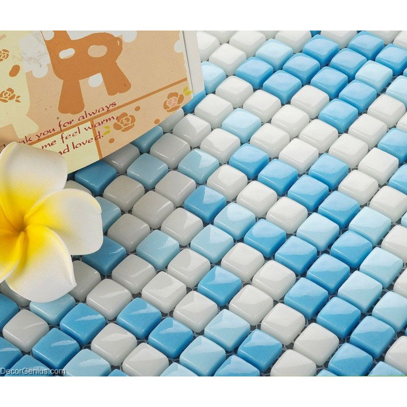 Swimming Pool Wall Design Mosaic Glass Decoration Tiles Art