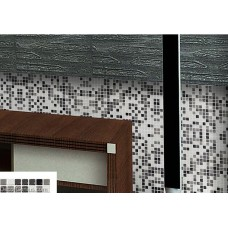 Grey Decorative Panel Tile Sheet Interial Grey Glass Crystal Square Mosaic Tiles