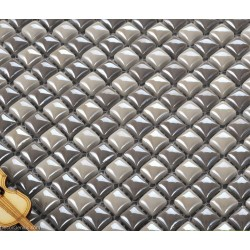 Grey Blend Mosaic Bathroom Floor Tiles Decorgenius Natural Hand Made Glass Tile