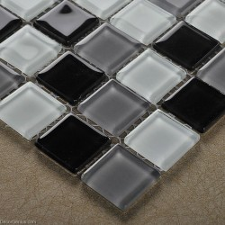 Black and White Discount Tile Backsplash DGGM054 Glass Stickers Bathroom Tiles