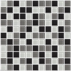 Black and White Discount Tile Backsplash DGGM054 Glass Stickers Bathroom Tiles
