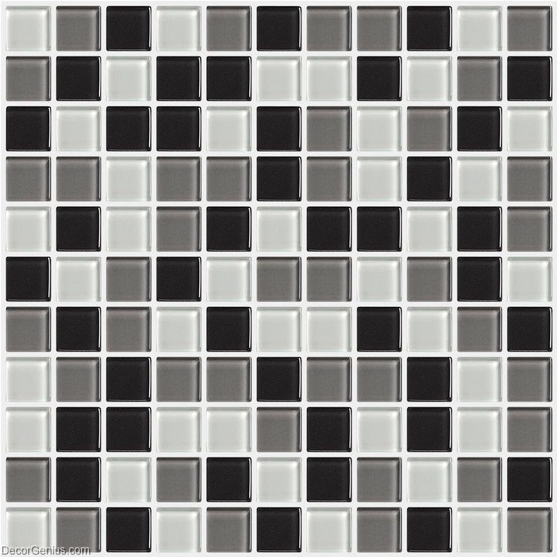 Black And White Discount Tile Backsplash Dggm054 Glass