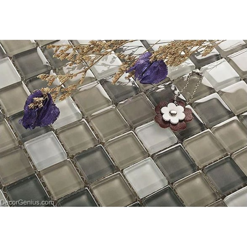 Crystal Floor Tile Hot Sale Glass Mosaic Kitchen Backsplash Tiles 11 ...