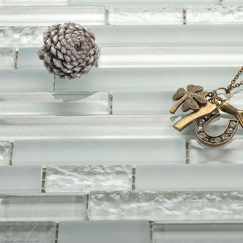 Crystal White Off Grey China Cheap Tile DGGM054 Glass Tiles Home ...