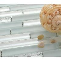 Crystal White Off Grey China Cheap Tile DGGM054 Glass Tiles Home Kitchen Subway Mosaic Decor